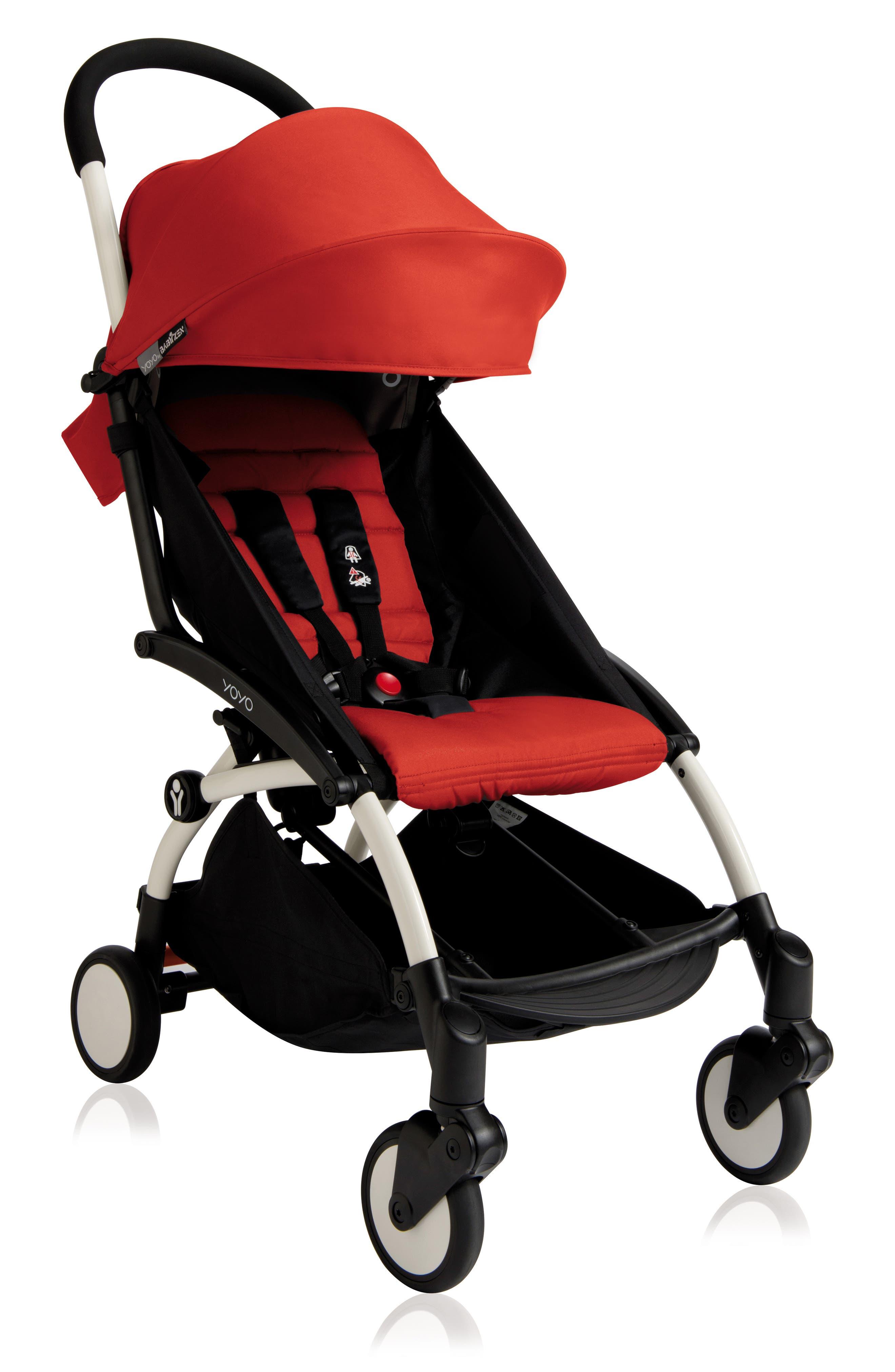 Infant Babyzen(TM) Yoyo Complete Stroller With Travel Bag Black Parasol  New Leg Rest Size One Size  Red