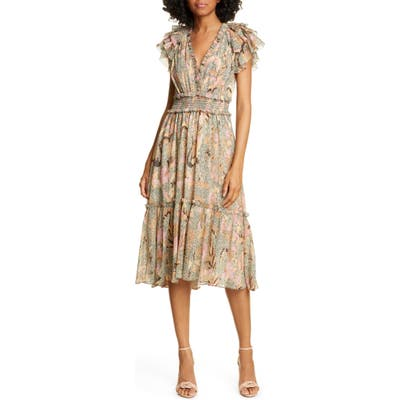 Ulla Johnson Cicely Silk Blend High/low Dress, Ivory