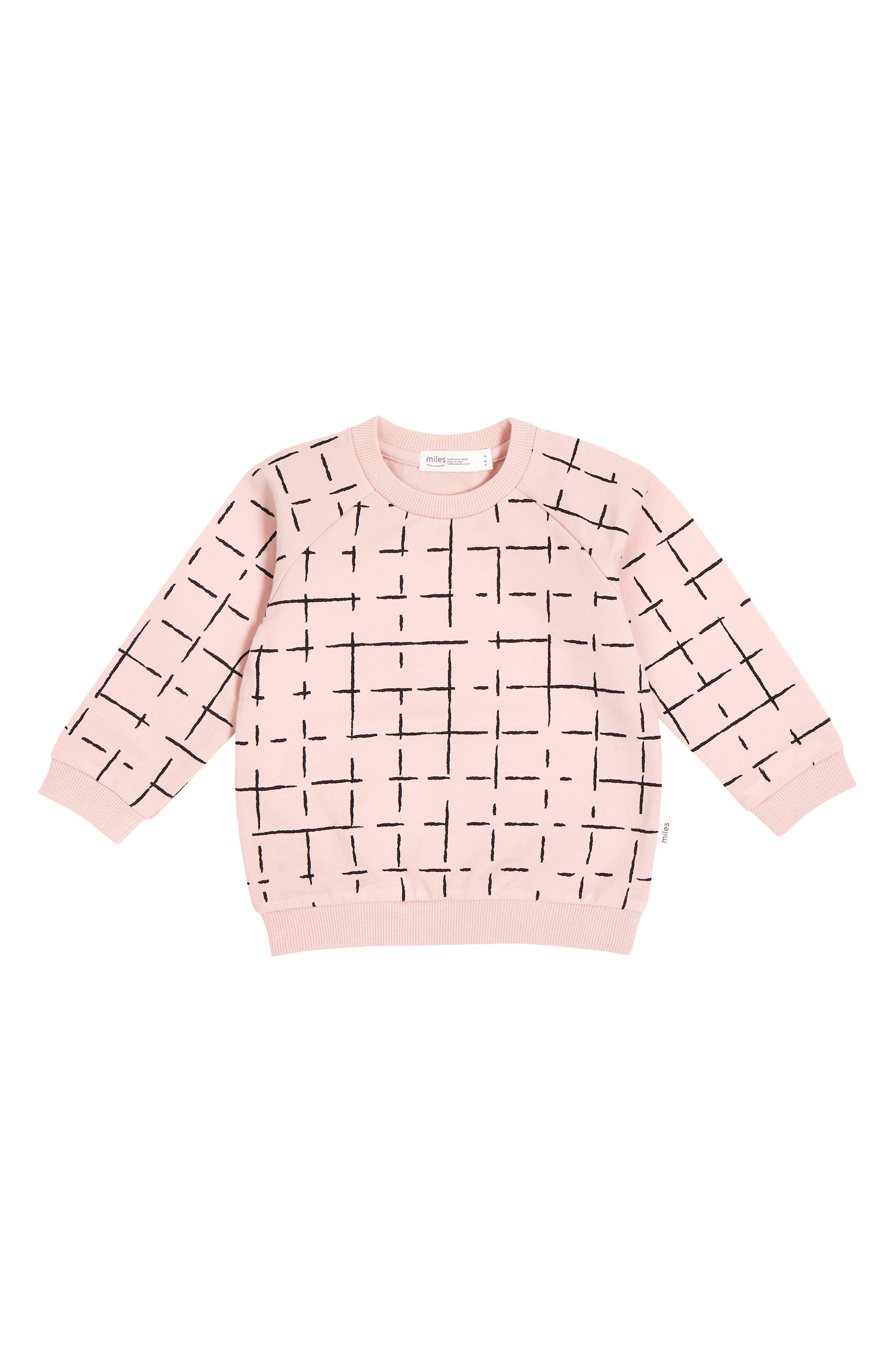 The world is a maze, and your baby will find a path while wearing this stretch-organic-cotton sweatshirt made from cozy French terry. Style Name: Miles Graphic Sweatshirt (Baby). Style Number: 6087358. Available in stores.