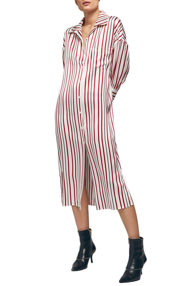 ANINE BING Milly Silk Shirtdress, Main, color, 900