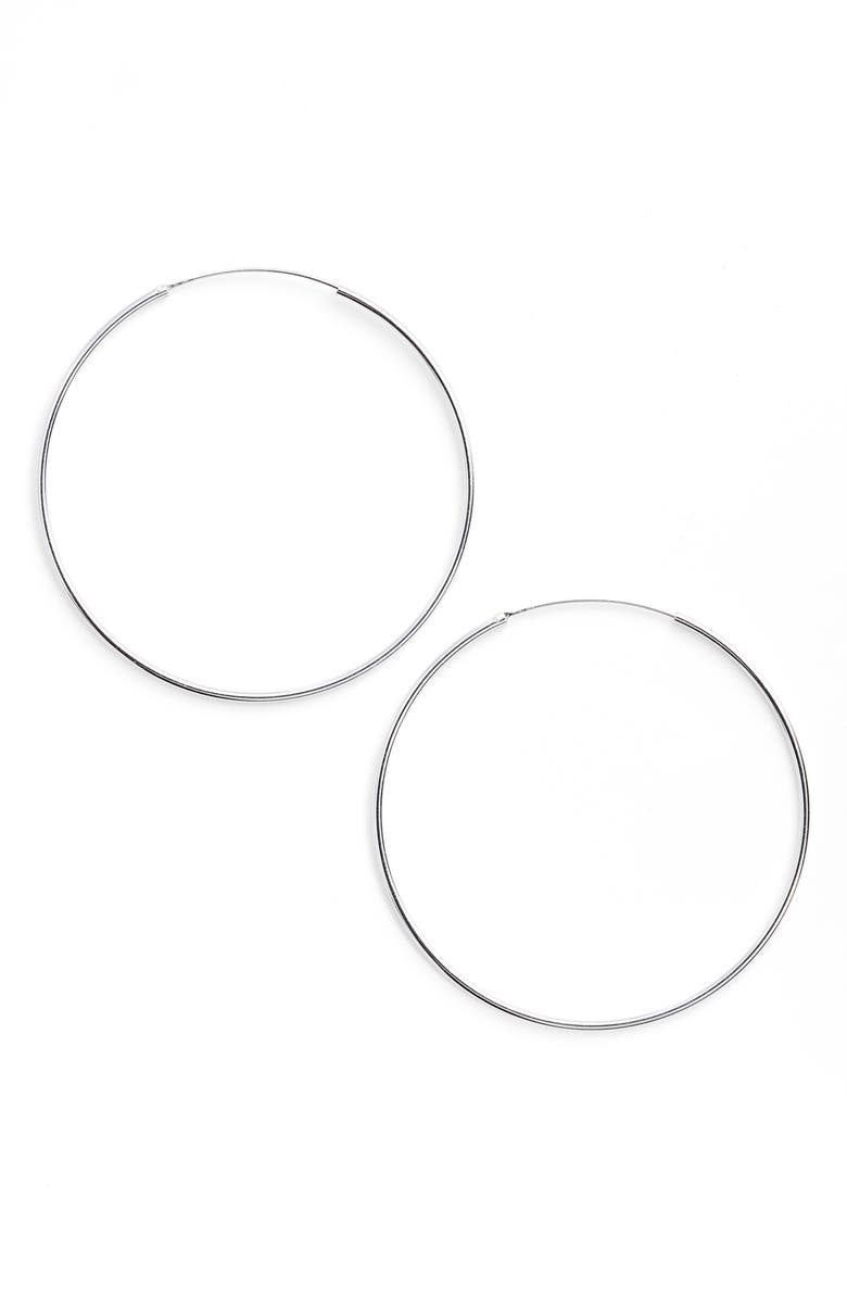 ARGENTO VIVO STERLING SILVER Argento Vivo Extra Large Endless Hoop Earrings, Main, color, SILVER