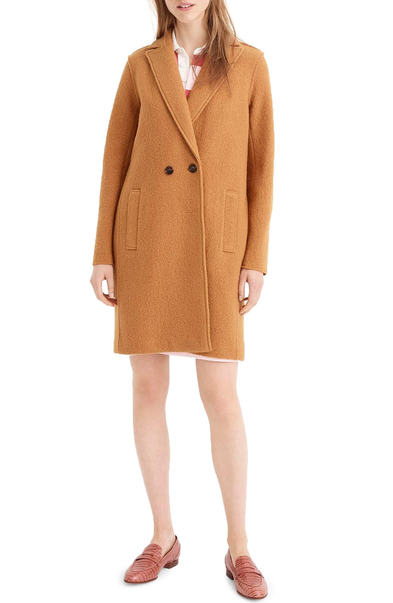 ,                             Daphne Boiled Wool Topcoat,                             Main thumbnail 35, color,                             250