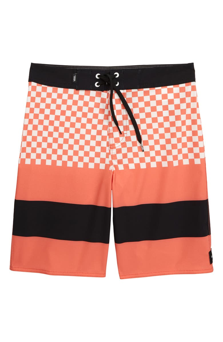 9a9817df20d45 Era Board Shorts, Main, color, EMBER GLOW/ CHECKER