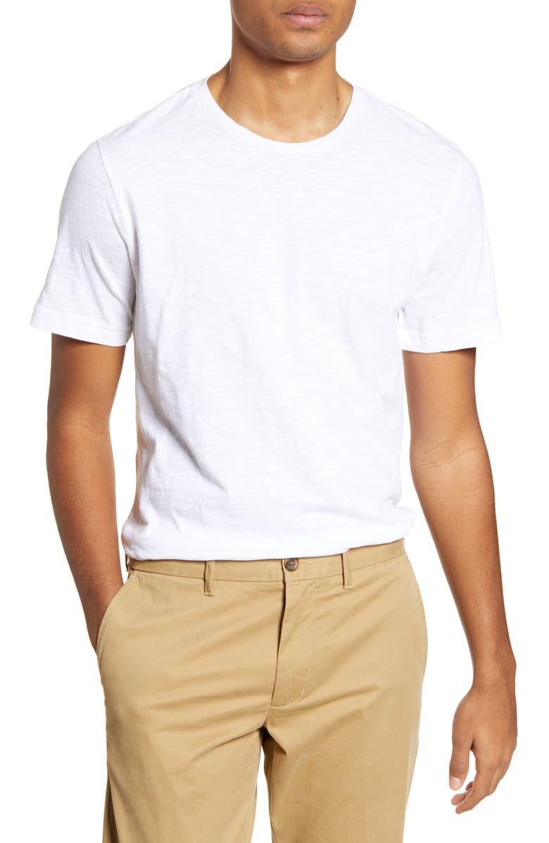 1901 Solid Slub T-Shirt, Main, color, WHITE