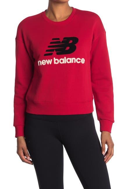 Image of New Balance Logo Patch Stadium Crew Neck Sweatshirt