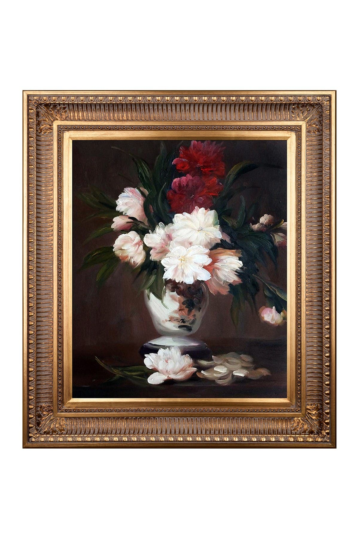 Overstock Art Edouard Manet Peonies In A Vase Framed Canvas Wall Art Nordstrom Rack