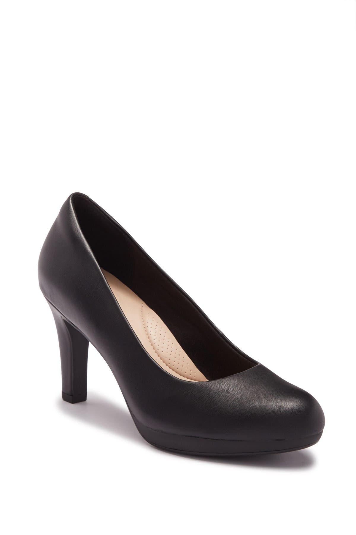 Image of Clarks Adriel Viola Leather Pump - Wide Width Available