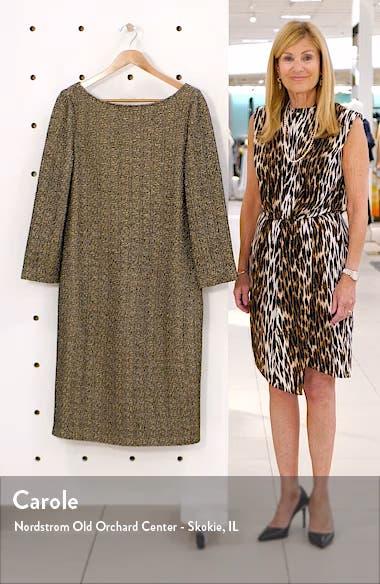 Golden Evening Shimmer Knit Sweater Dress, sales video thumbnail