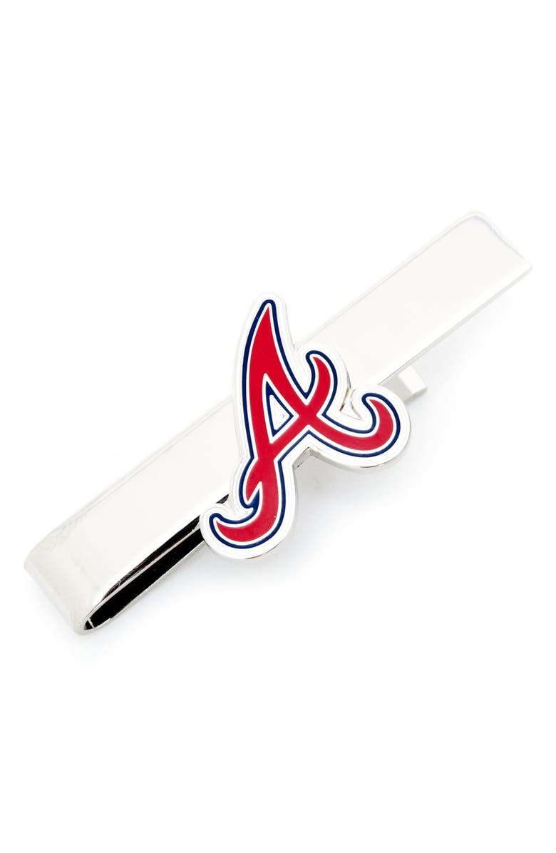 CUFFLINKS, INC. Atlanta Braves Tie Bar, Main, color, RED/ SILVER