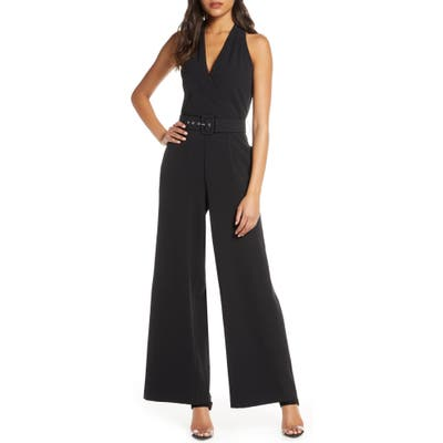 Julia Jordan Sleeveless Wide Leg Jumpsuit, Black