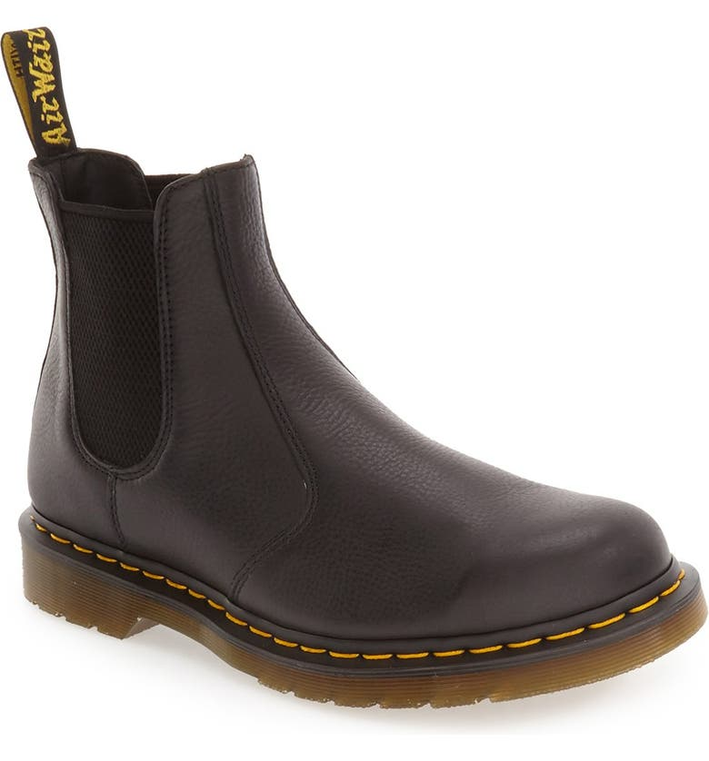DR. MARTENS '2976' Chelsea Boot, Main, color, BLACK LEATHER
