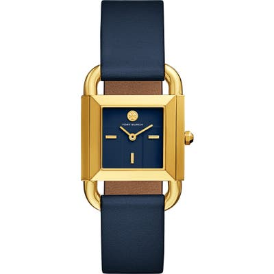 Tory Burch Phipps Leather Strap Watch, 2m X 42Mm