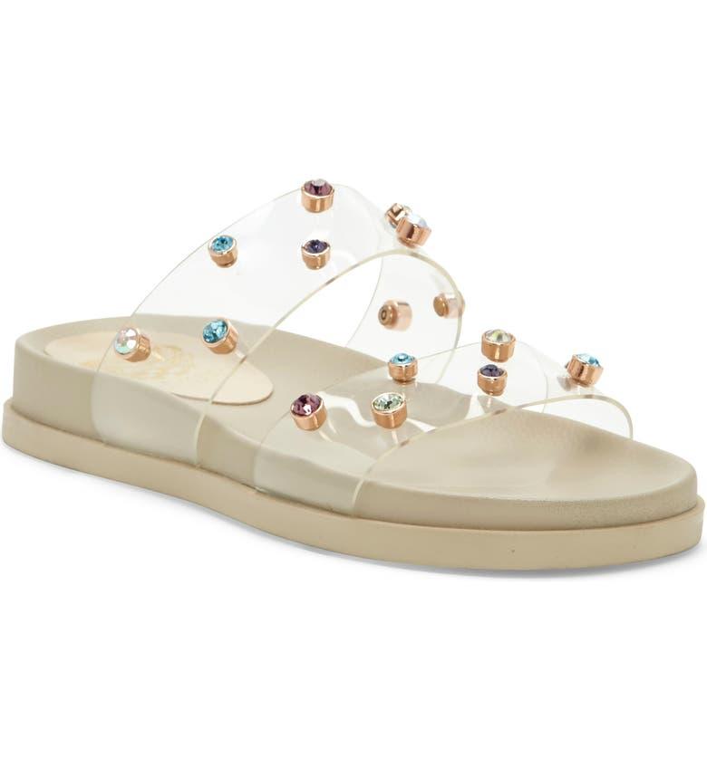 VINCE CAMUTO Partha Platform Slide Sandal, Main, color, CLEAR