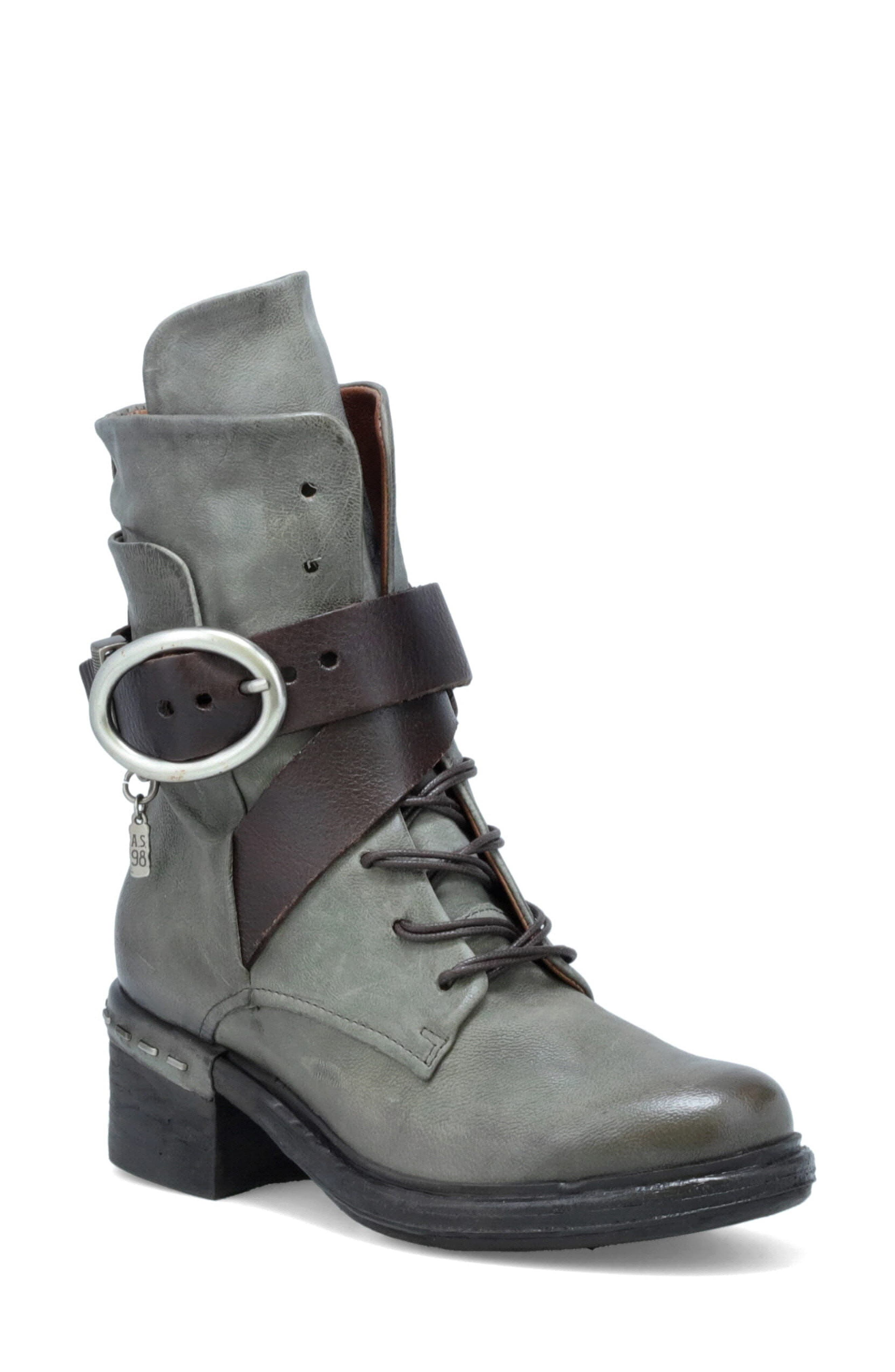 Women's A.s.98 Newhall Buckle Bootie