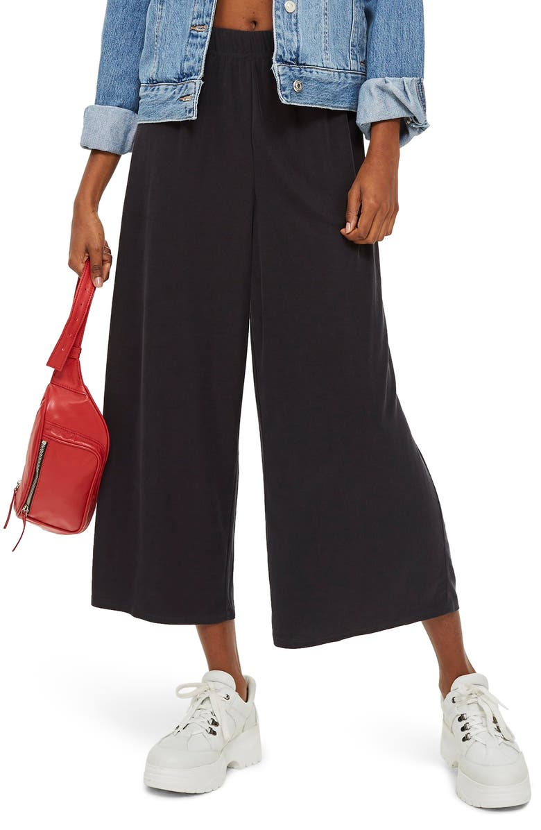 TOPSHOP Pull On Culottes, Main, color, 003
