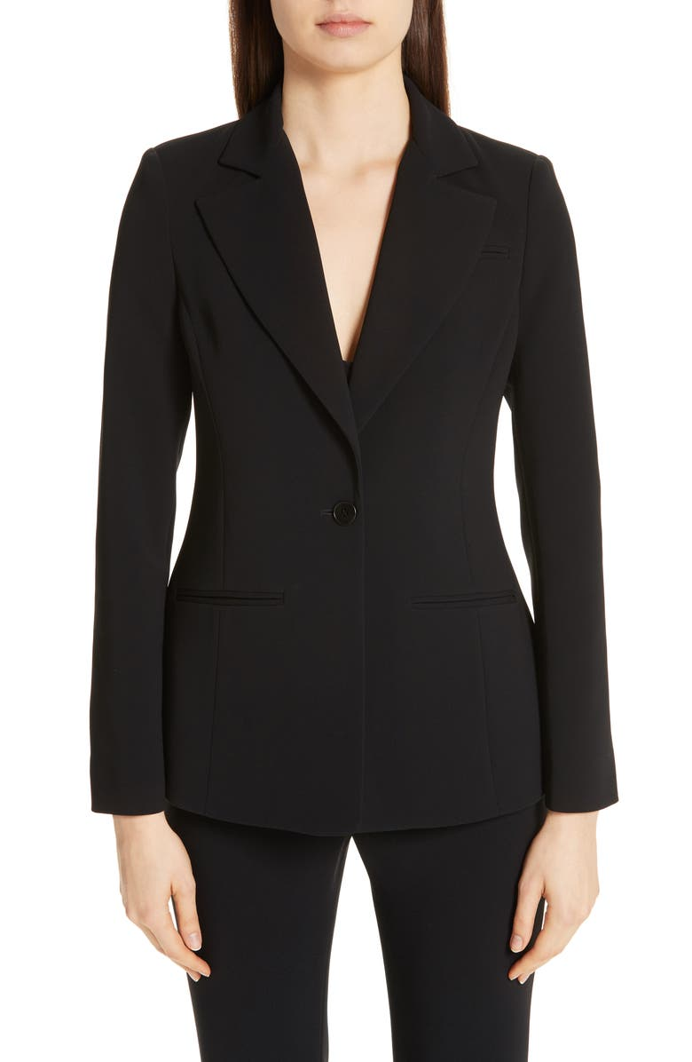 ALTUZARRA Acacia One Button Jacket, Main, color, BLACK