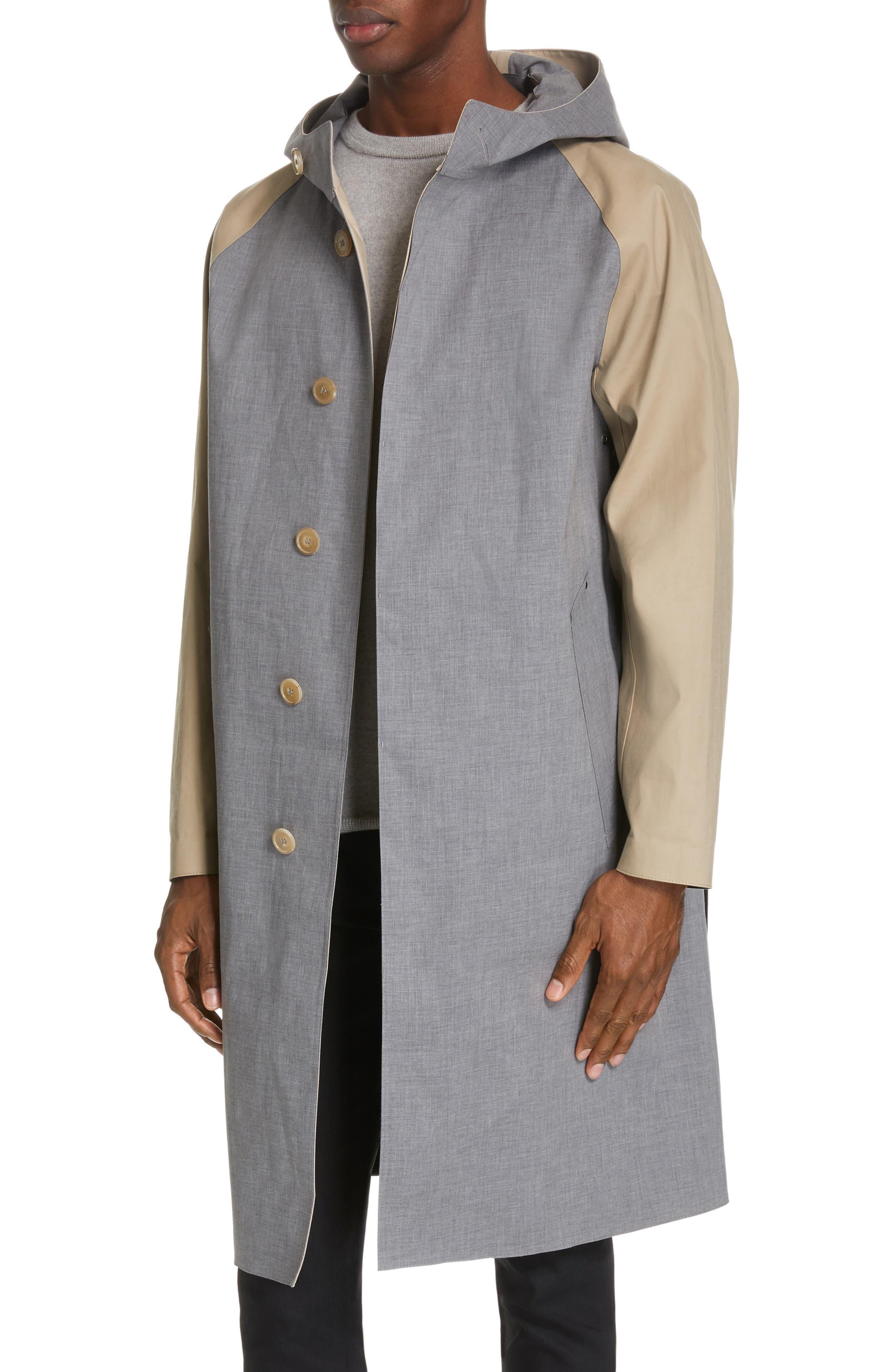 ,                             Bonded Cotton Hooded Jacket,                             Alternate thumbnail 6, color,                             LIGHT TOP GREY/ INK