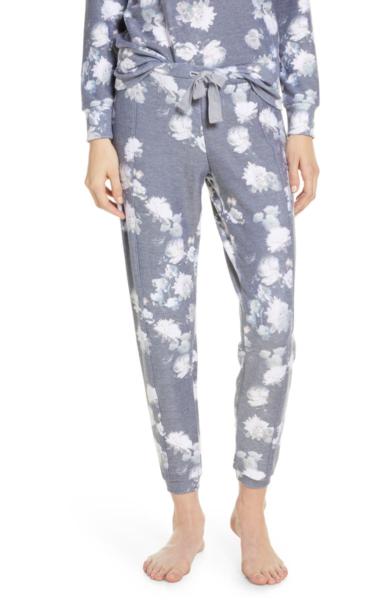 CHASER Cozy Knit Lounge Jogger Pants, Main, color, VINTAGE FLORAL