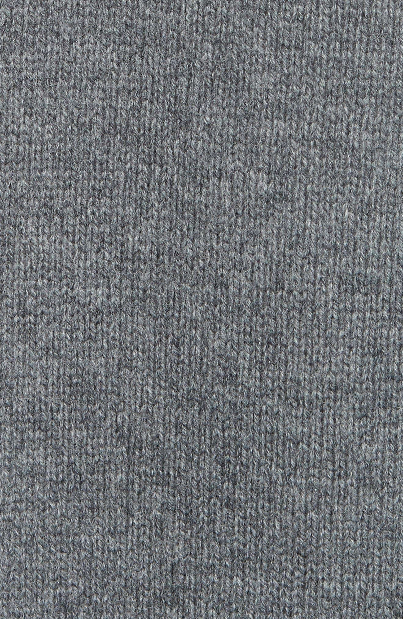 ,                             Wool & Cashmere Tunic Sweater,                             Alternate thumbnail 5, color,                             GREY