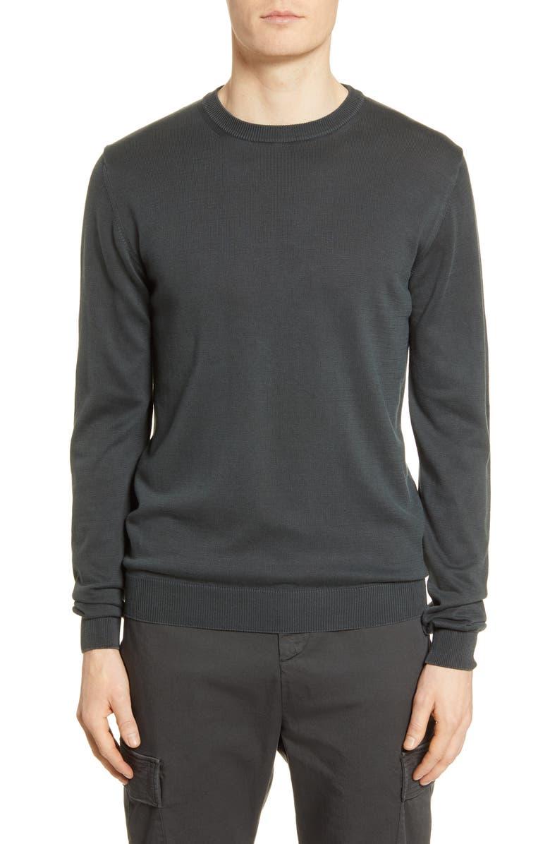 OFFICINE GÉNÉRALE Neils Crewneck Sweater, Main, color, FADED BLACK