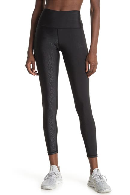 Image of Max Studio Earthday Embossed Leopard Print Leggings