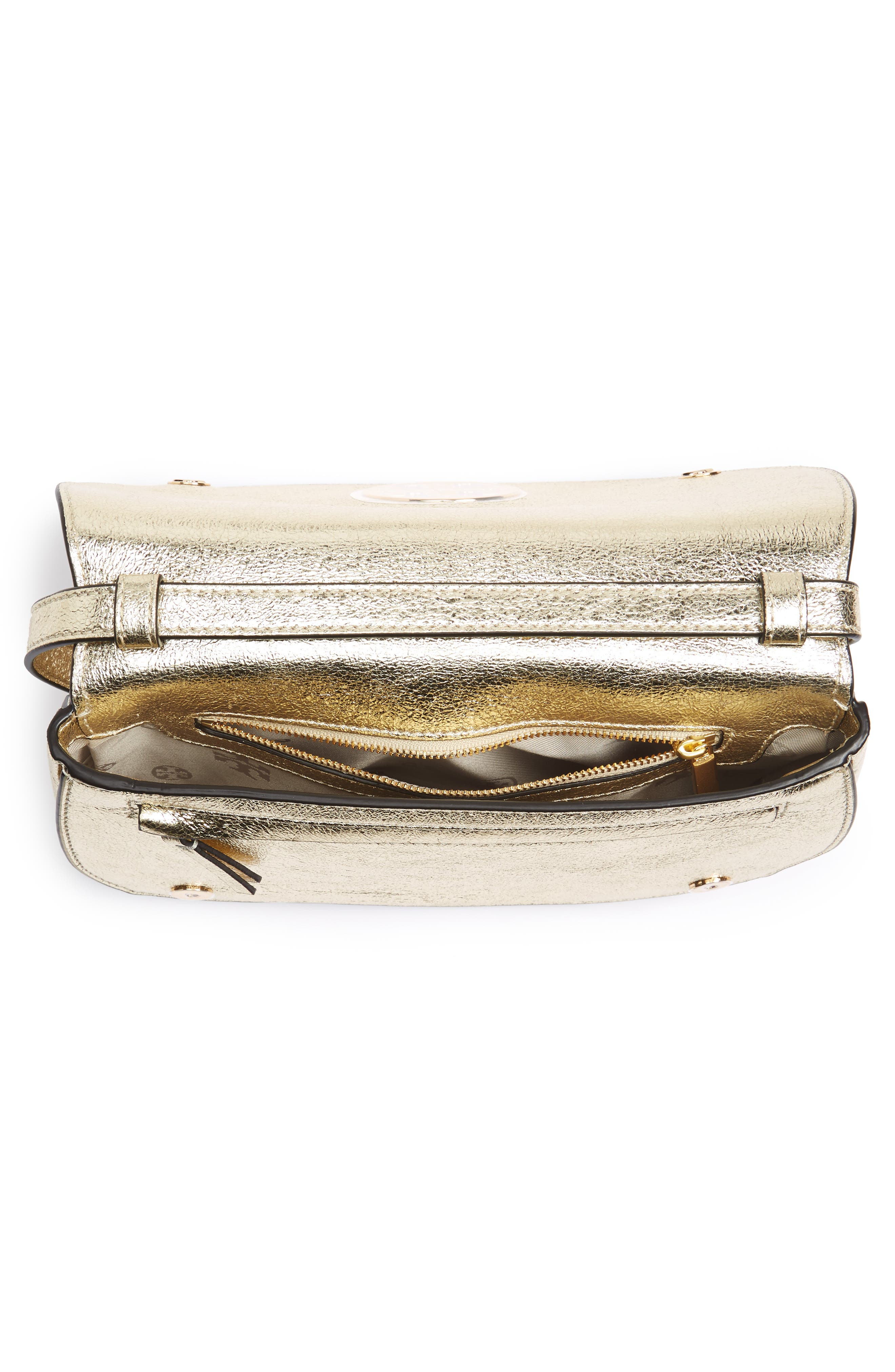,                             Jamie Metallic Leather Clutch,                             Alternate thumbnail 4, color,                             701