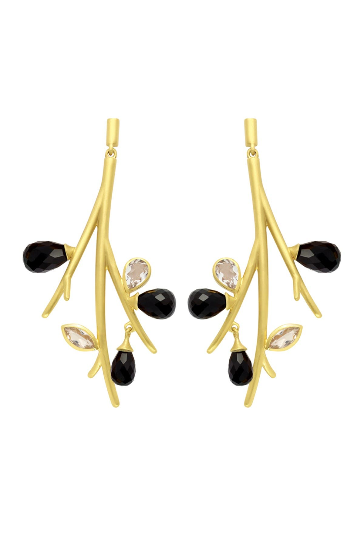 Image of DEAN DAVIDSON 22K Gold Plated Sakura Statement Earrings