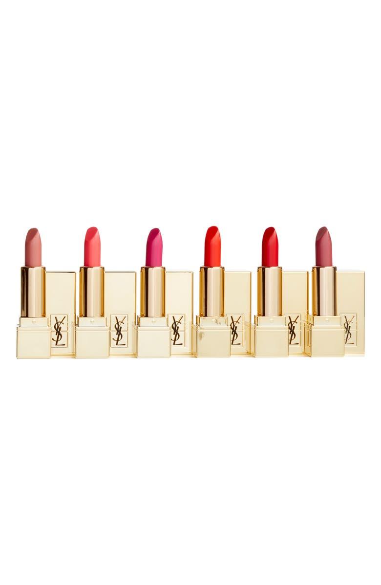 YVES SAINT LAURENT Travel Size Rouge Pur Couture Lipstick Set, Main, color, 000