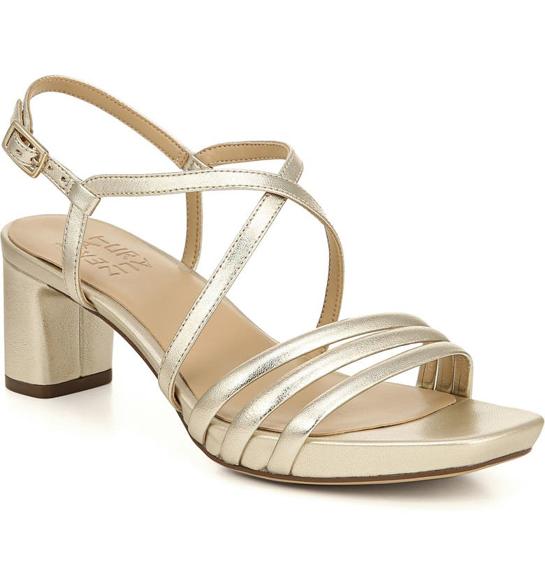 NATURALIZER Iris Sandal, Main, color, CHAMPAGNE LEATHER