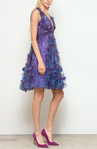 Floral Tulle Cocktail Dress, video thumbnail