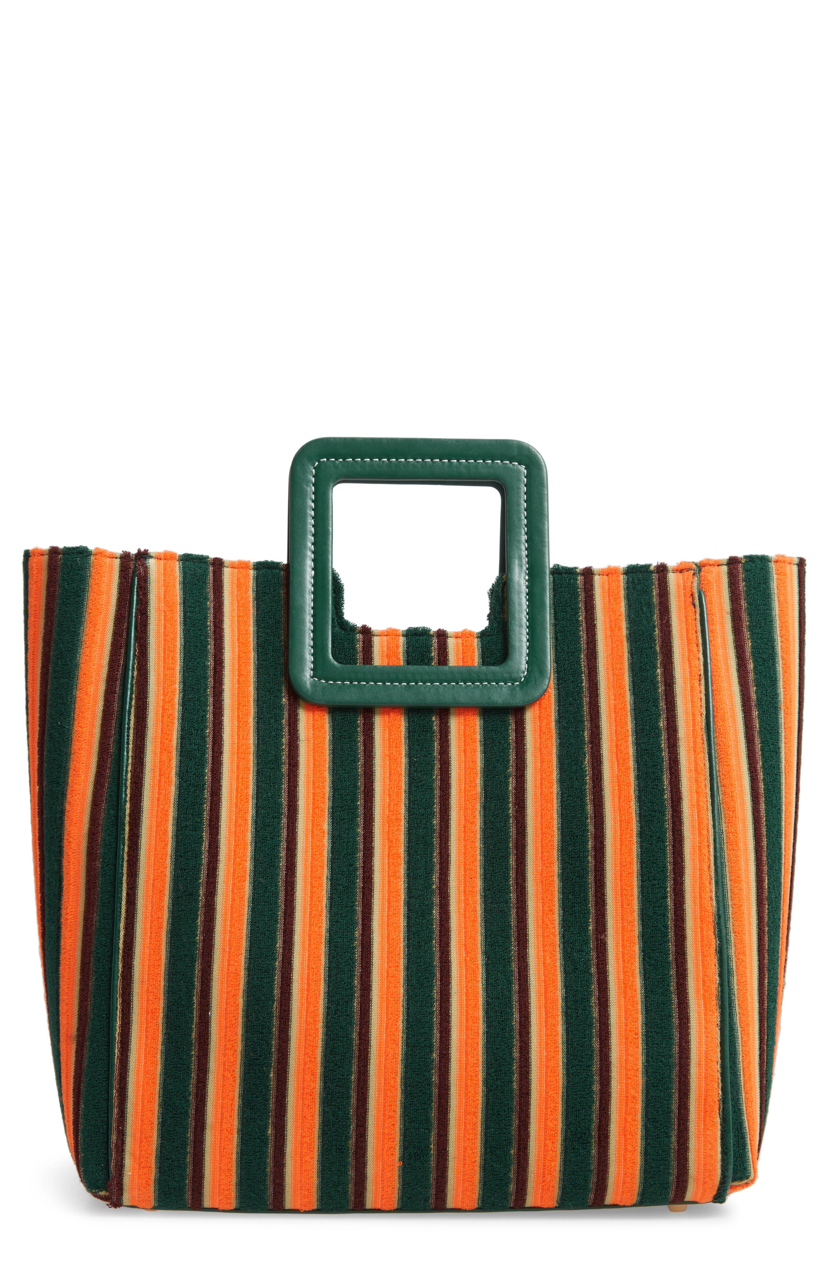 Staud Bags Shirley Stripe Terry Satchel