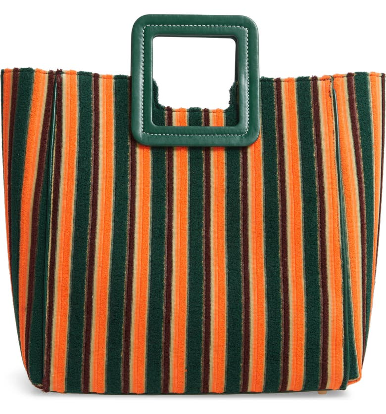 STAUD Shirley Stripe Terry Satchel Exclusive Color