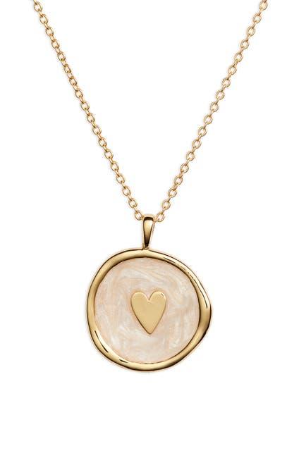 Image of Gorjana Enamel Heart Coin Pendant Necklace
