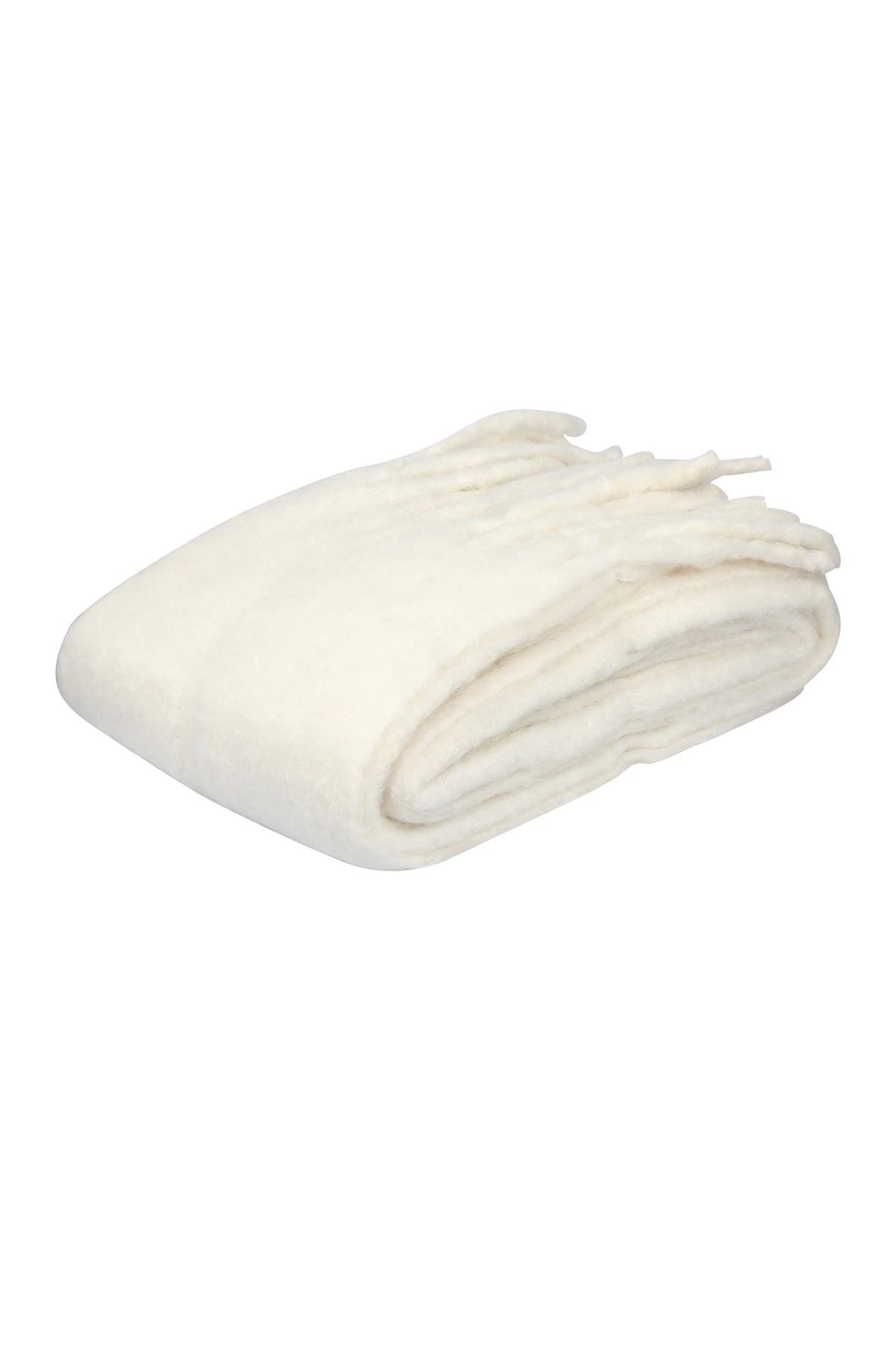 Image of EIGHTMOOD Fringe Trim Throw - Off White