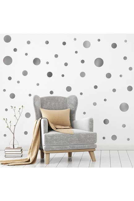 Image of WalPlus Silver Metallic Dots Wall Decal