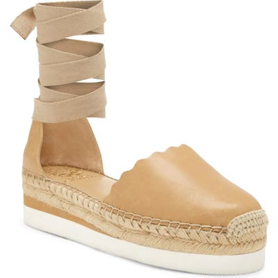 Vince Camuto Brittie Platform Espadrille Sandal, Beige