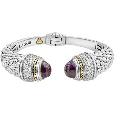 Lagos Caviar Diamond & Semiprecious Stone Wrist Cuff
