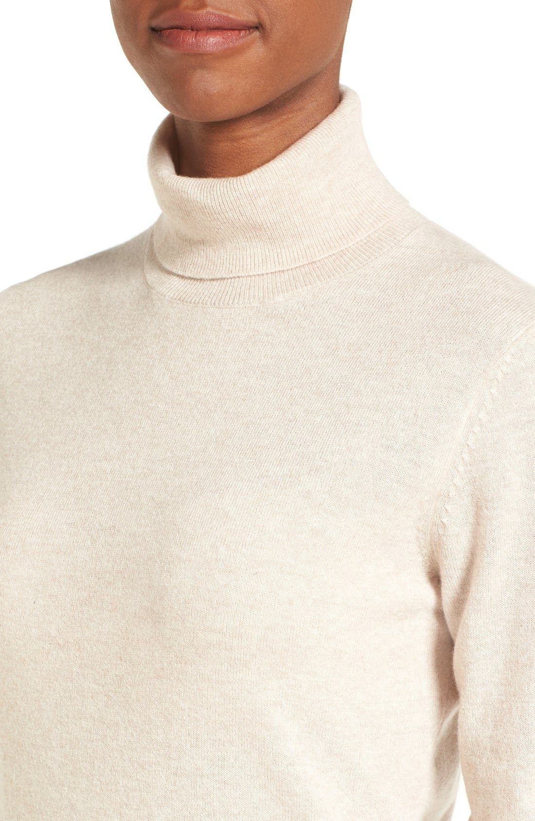 ,                             Long Cashmere Turtleneck Sweater,                             Alternate thumbnail 21, color,                             260
