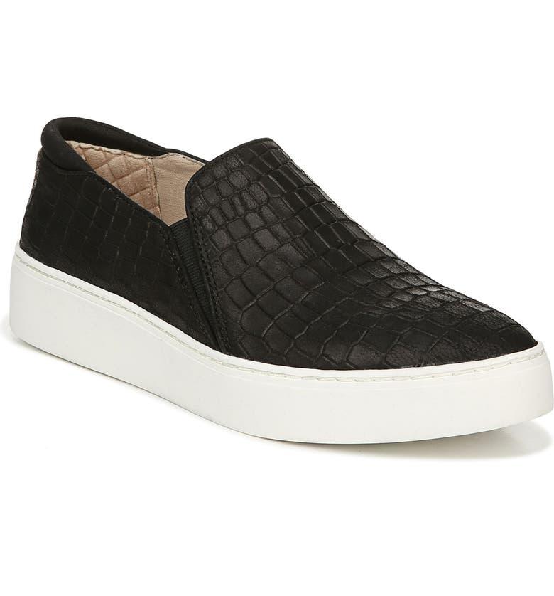 DR. SCHOLL'S Dr. Scholls Dazed Slip-On Sneaker, Main, color, BLACK LEATHER