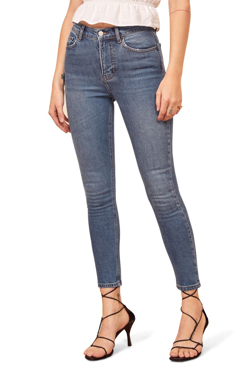 Reformation High Skinny Crop Jeans
