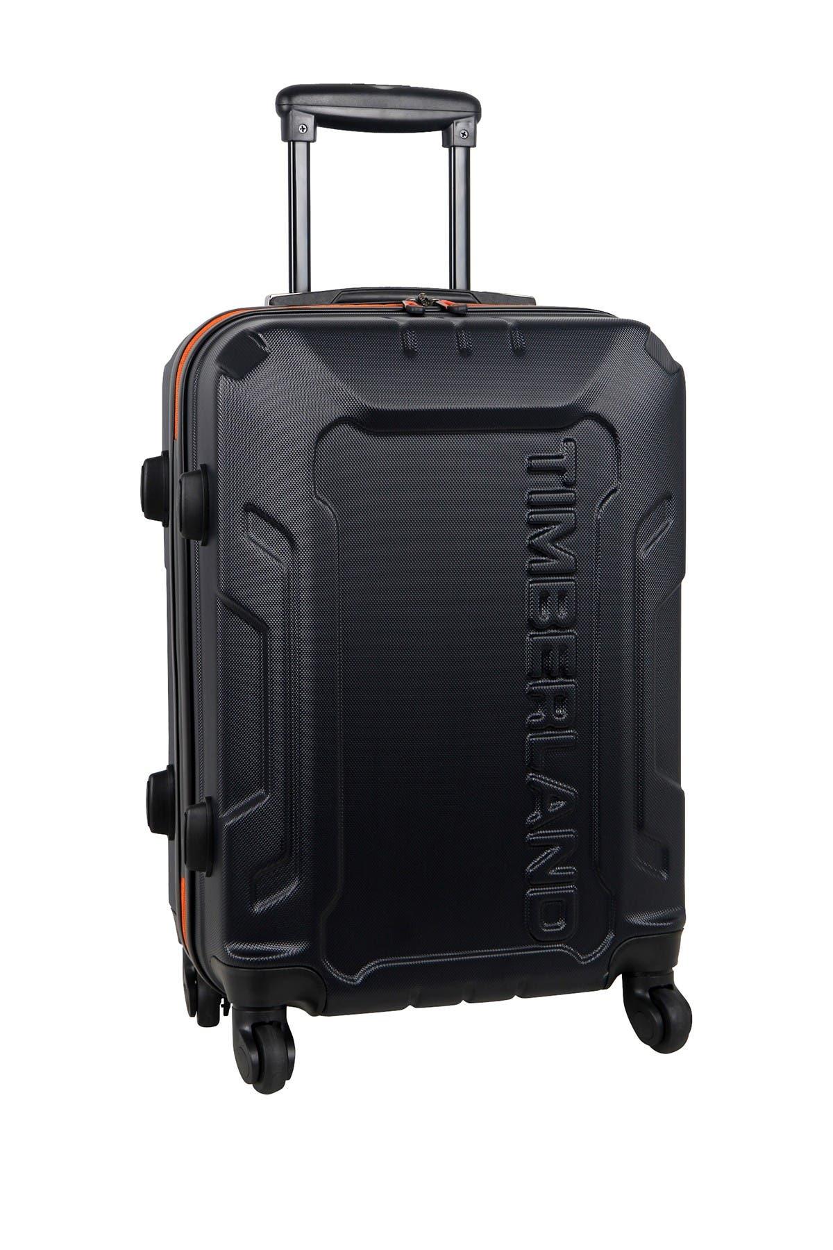 "Image of Timberland Blue Boscawen 21"" Hardside Spinner Suitcase"