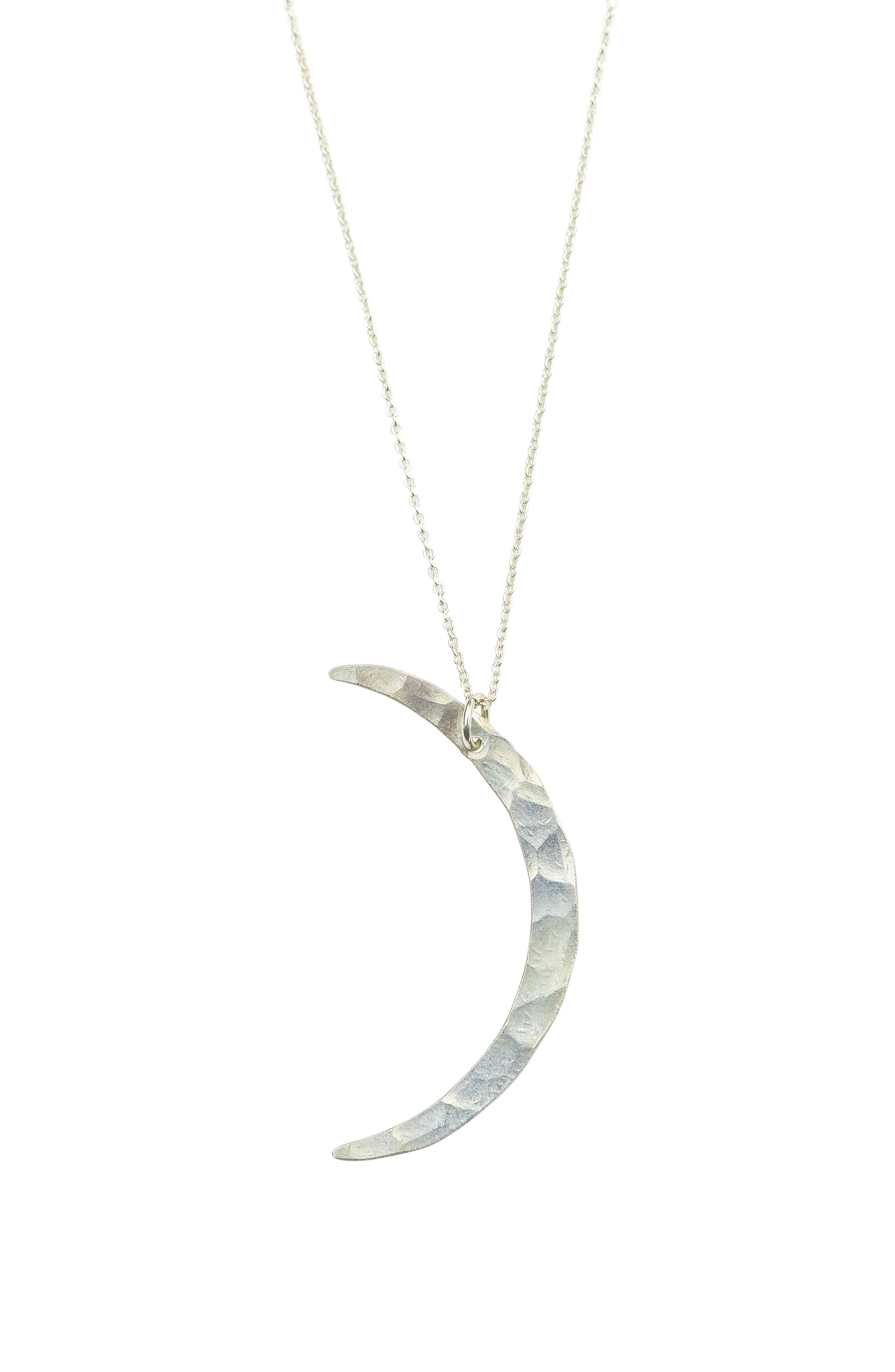 A hammered crescent moon pendant adds a celestial touch to this handcrafted and hand-polished chain-link necklace. Style Name: Nashelle Crescent Moon Necklace. Style Number: 5872664. Available in stores.