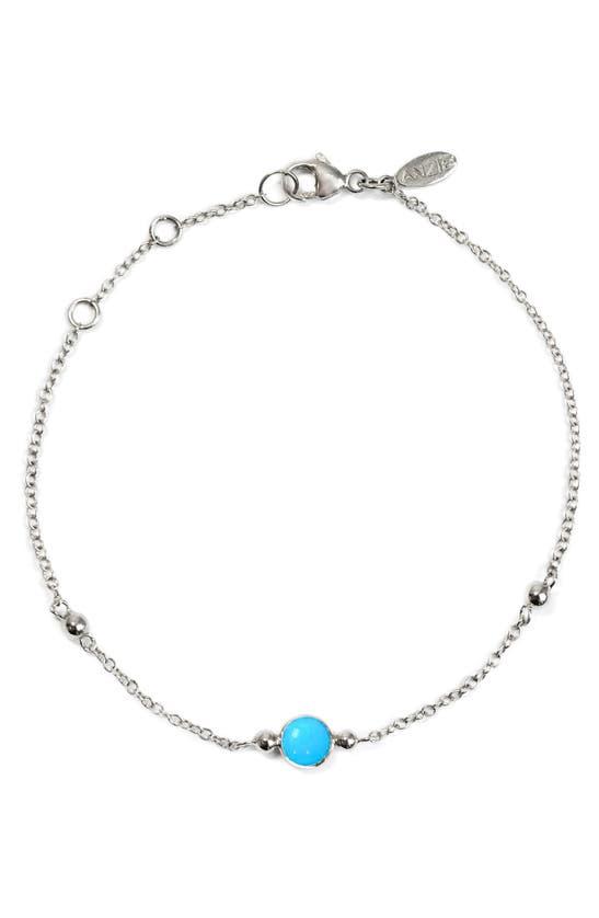 Anzie Bonheur Turquoise Bracelet In Silver
