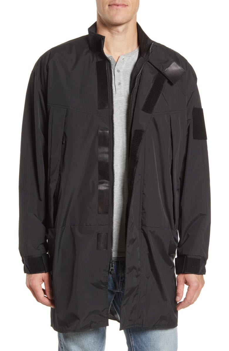ALPHA INDUSTRIES Sentry Two-in-One Water Resistant Fishtail Jacket, Main, color, BLACK
