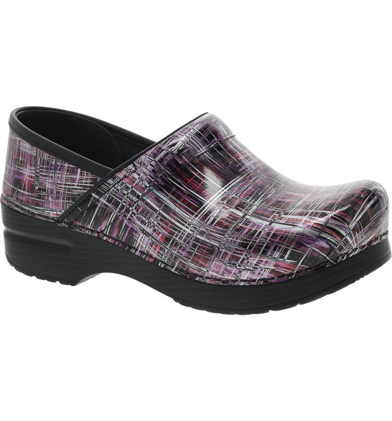 DANSKO 'Professional' Clog, Main, color, CROSSHATCH PATENT LEATHER