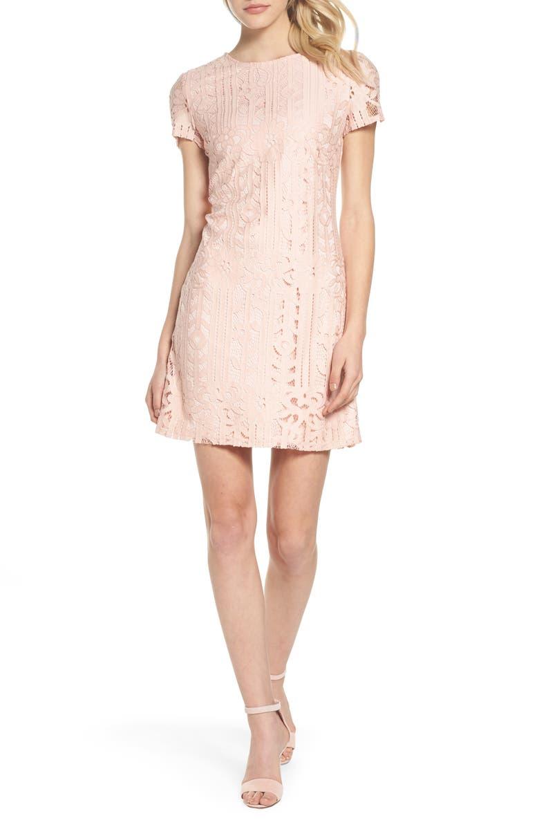 JULIA JORDAN Lace Sheath Dress, Main, color, 688