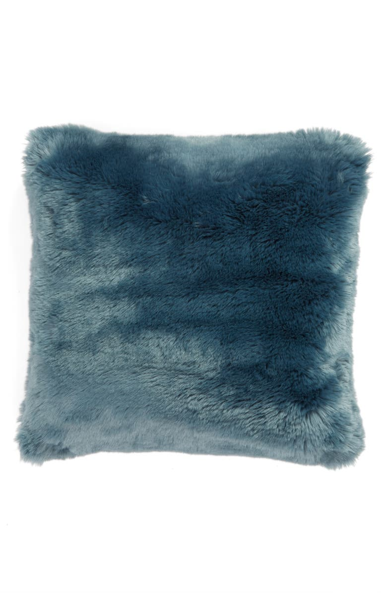 NORDSTROM AT HOME Cuddle Up Faux Fur Pillow, Main, color, 440