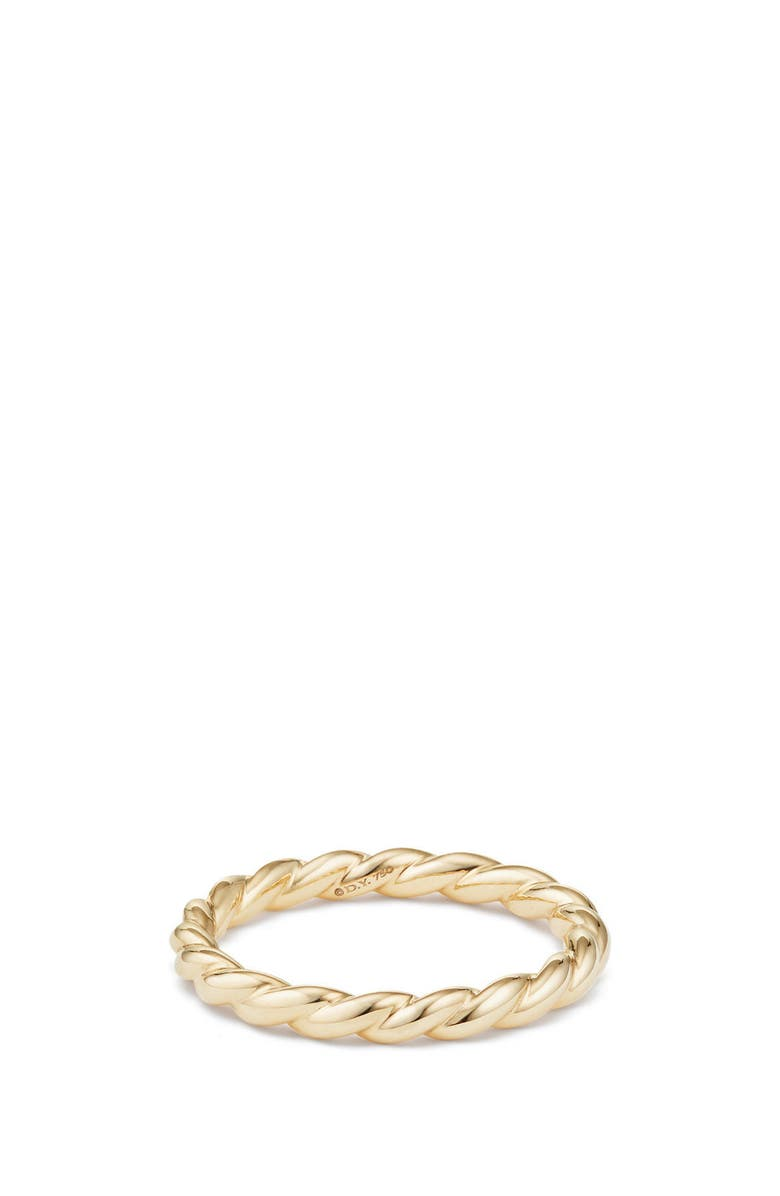 DAVID YURMAN Paveflex Ring in 18K Gold, 2.7mm, Main, color, YELLOW GOLD