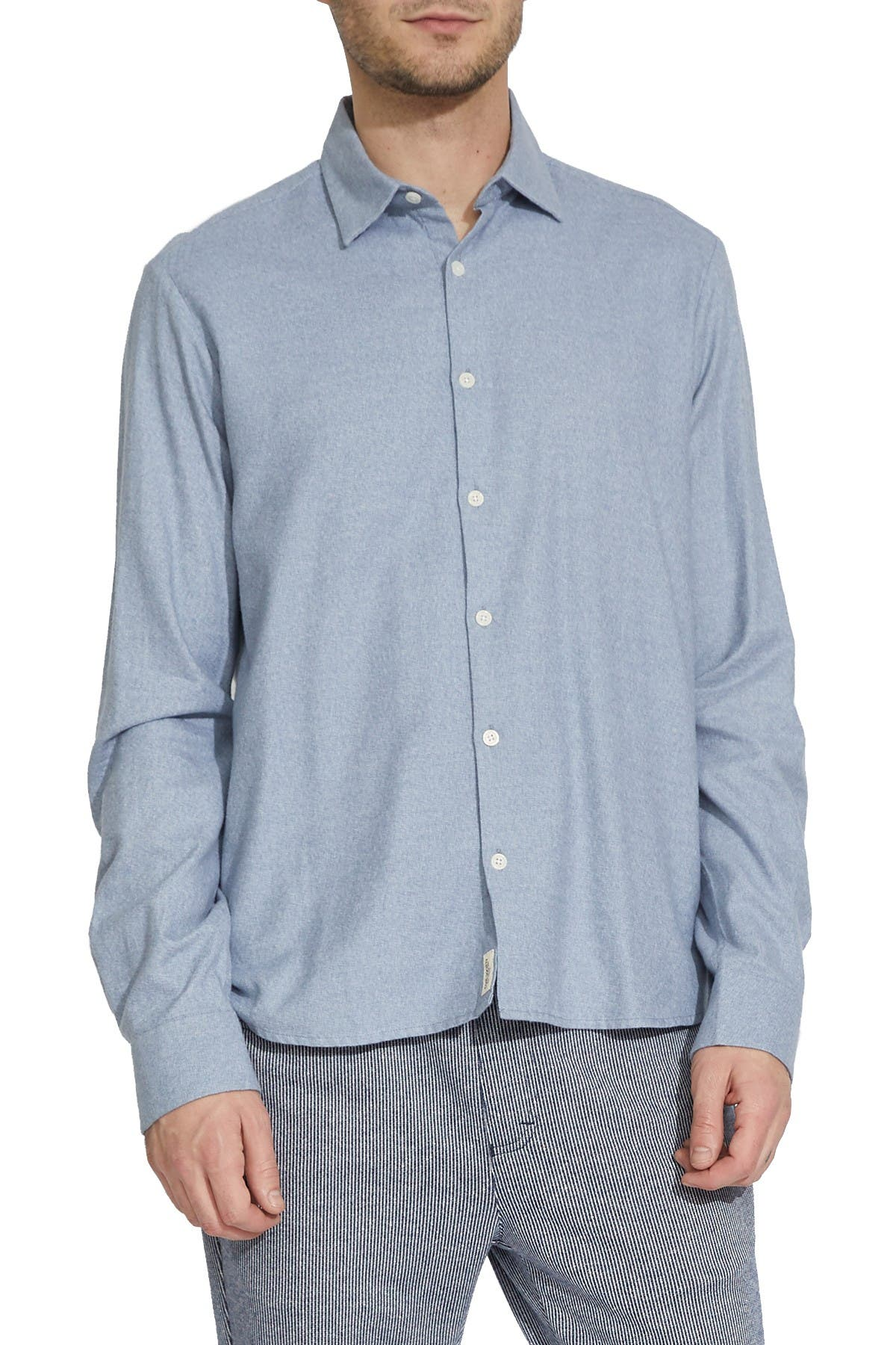 Image of Civil Society Howe Brushed Flannel Regular Fit Shirt