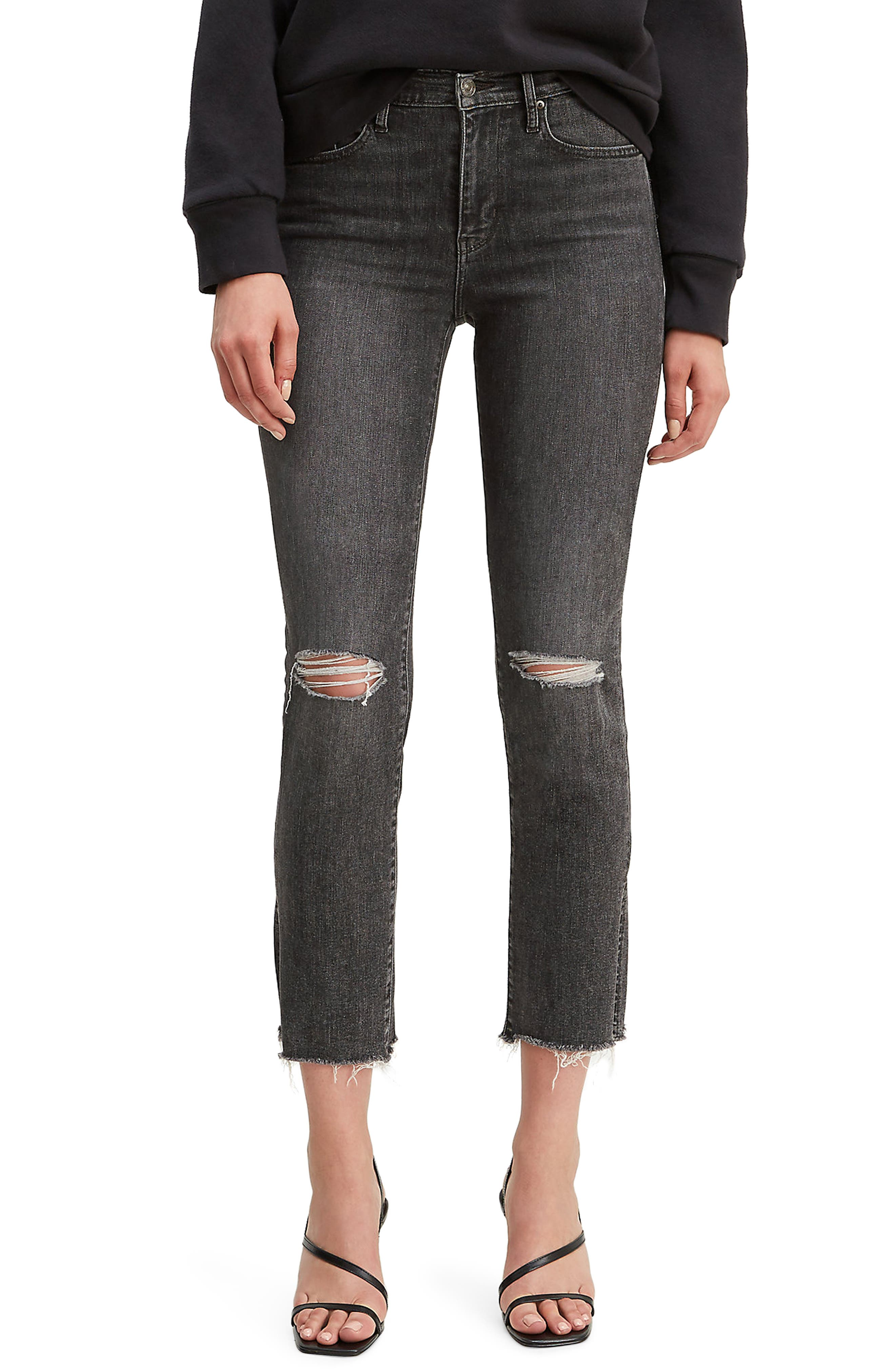 Levi's® 724™ Ripped High Waist Crop Jeans (Dire Straits)